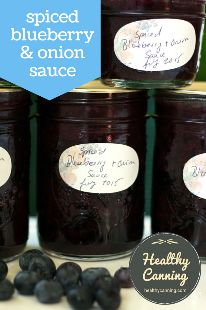 Spiced Blueberry and Onion Sauce - Healthy Canning