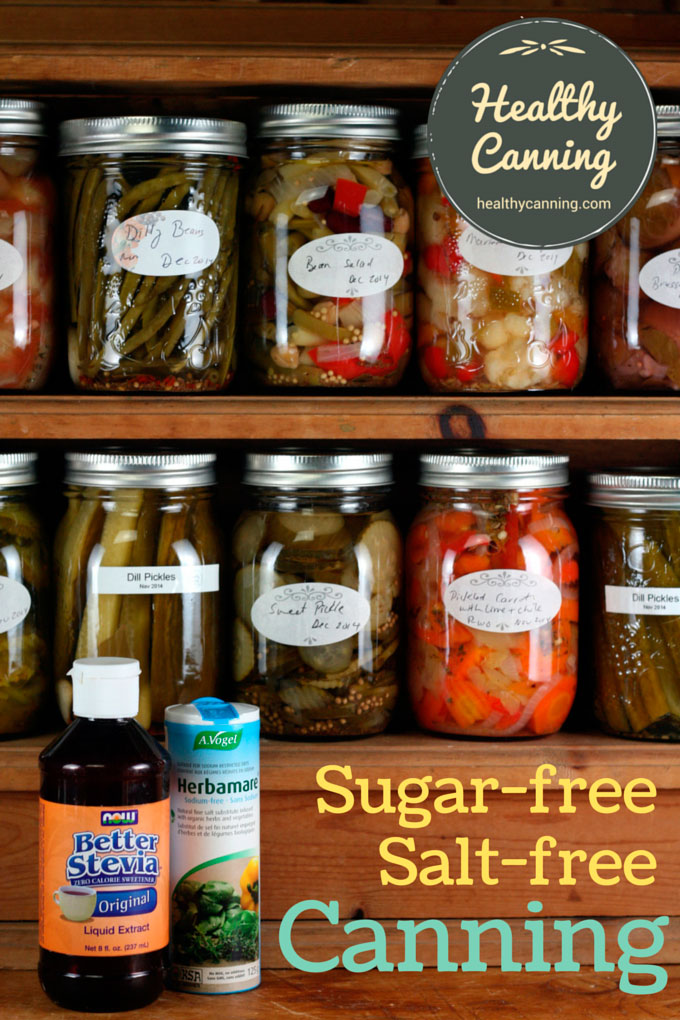 Sugar and salt-free canning