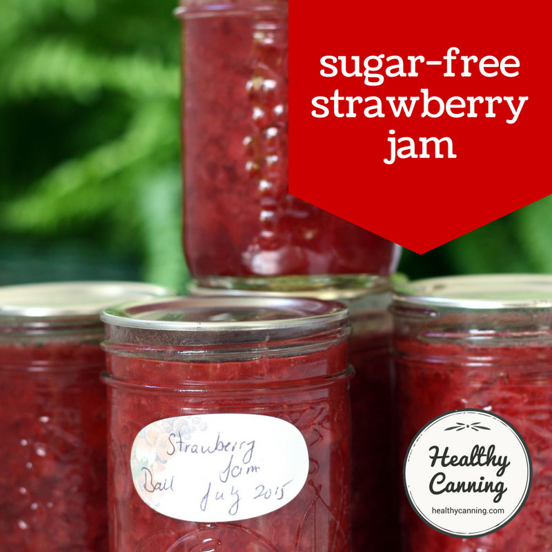 Strawberry Jam Sugar-Free (Ball / Bernardin) - Healthy Canning