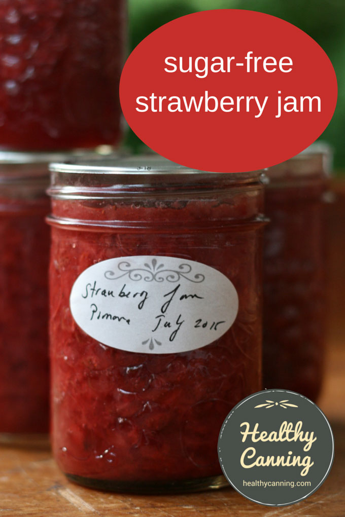 sugar free strawberry jam pomona 001