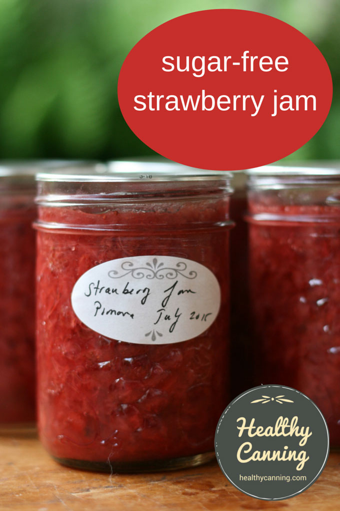 sugar free strawberry jam pomona 002