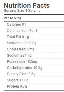 sweet pickle slices nutrition regular
