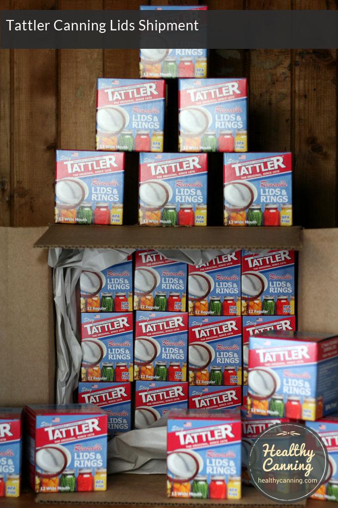 tattler canning lids shipment