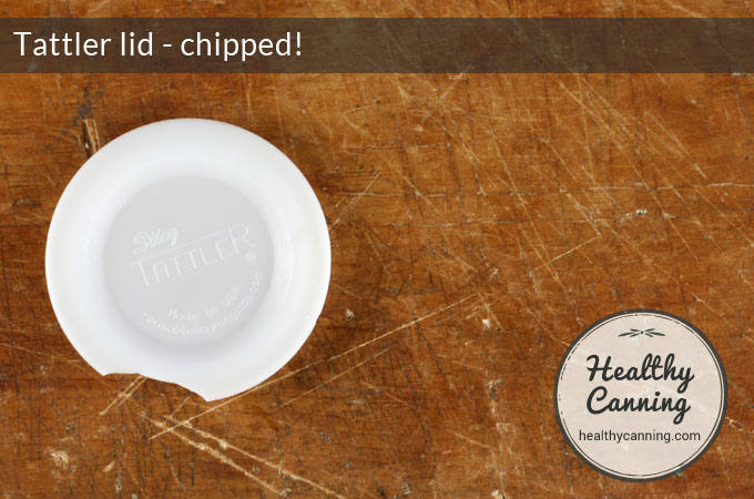 Tattler lids can chip
