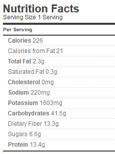 three bean salad nutrition