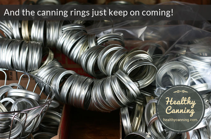 What to do with too many canning rings