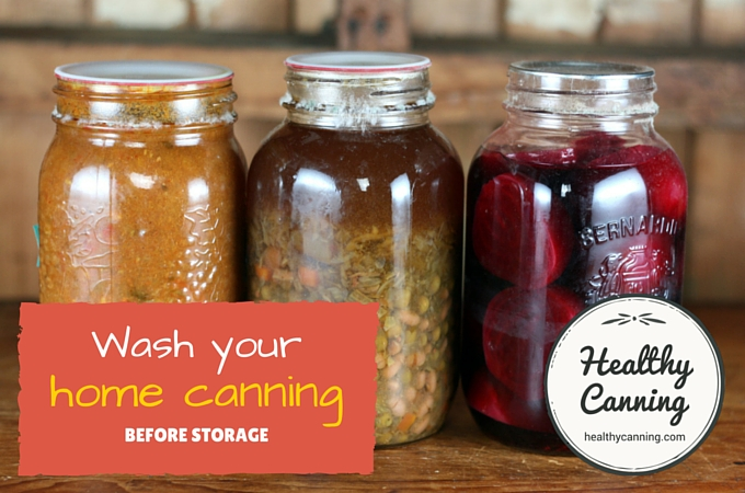 wash your canned goods before storing 002