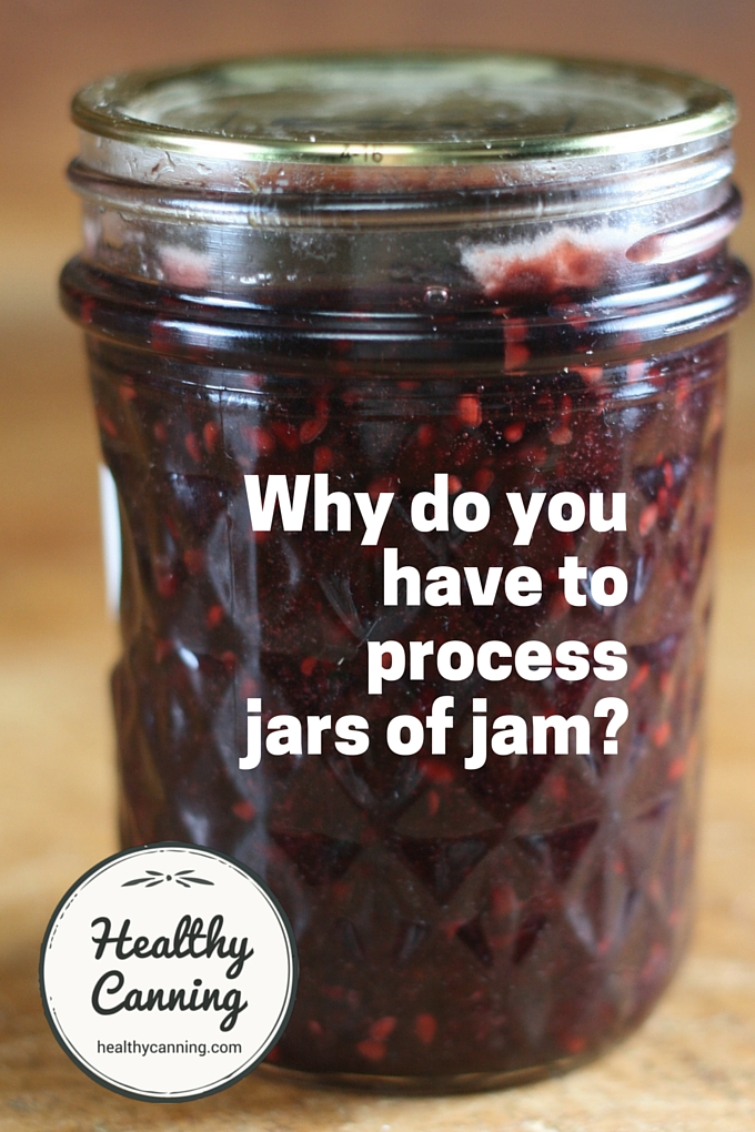 why do you have to process jars of jam